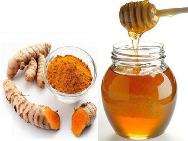 Image result for nghệ tươi, mật ong